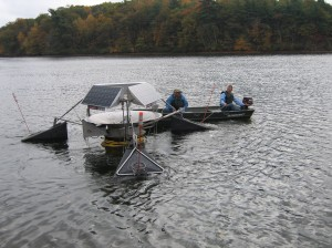 SolarBee on Lake Cochituate